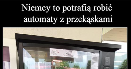 Niemcy to potrafią robić automaty z przekąskami